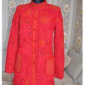 Одежда ручной работы. Ярмарка Мастеров - ручная работа Красное шерстное пальто. Handmade.