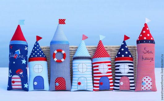 Детская ручной работы. Ярмарка Мастеров - ручная работа. Купить Морские домики. Handmade. Домик, текстильные домики, морская тематика