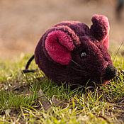 Куклы и игрушки ручной работы. Ярмарка Мастеров - ручная работа Фиолетовая мышка. Handmade.
