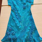 Одежда детская handmade. Livemaster - original item Felted silk girl`s dress of Valencia,. Handmade.