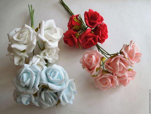 Материалы для флористики ручной работы. Ярмарка Мастеров - ручная работа. Купить Цветы латексные 5 шт (ш 4 см ). Handmade.