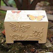 Для дома и интерьера handmade. Livemaster - original item Trinket box Flying Butterflies. Handmade.