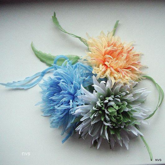 Броши ручной работы. Ярмарка Мастеров - ручная работа. Купить хризантема шарм. Handmade. Стильный аксессуар, вечернее украшение