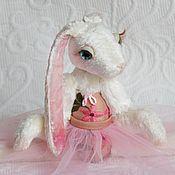Куклы и игрушки ручной работы. Ярмарка Мастеров - ручная работа Зайка - Балерина в розовой пачке. Handmade.