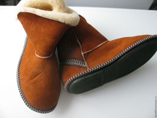 Обувь ручной работы. Ярмарка Мастеров - ручная работа. Купить Угги из овчины на твёрдой подошве. Handmade. Угги, для больных ног