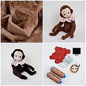 Blanks for dolls and toys handmade. Livemaster - original item Sewing kit Teddy monkey + monkey pattern. Handmade.