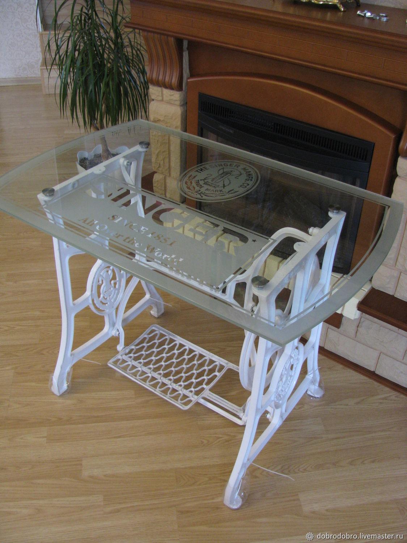 стол из швейной машинки своими руками фото лечебный