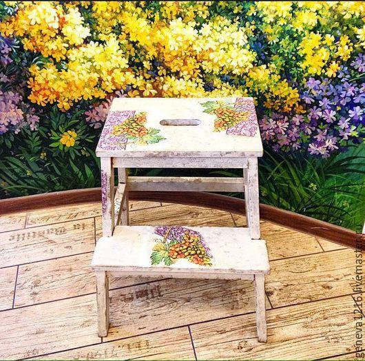 """Мебель ручной работы. Ярмарка Мастеров - ручная работа. Купить табурет-лестница """"Старый Прованс"""" Авторская мебель, мебель ручной рабо. Handmade."""