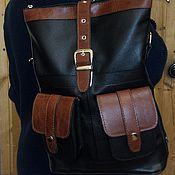 Сумки и аксессуары handmade. Livemaster - original item Backpack-leather bag 28. Handmade.