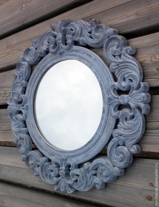 Зеркала ручной работы. Ярмарка Мастеров - ручная работа. Купить Зеркало в деревянной раме, стиль прованс. Z7.. Handmade. Бежевый