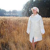 """Одежда ручной работы. Ярмарка Мастеров - ручная работа Валяное пальто ручной работы """"Цветы под снегом"""". Handmade."""