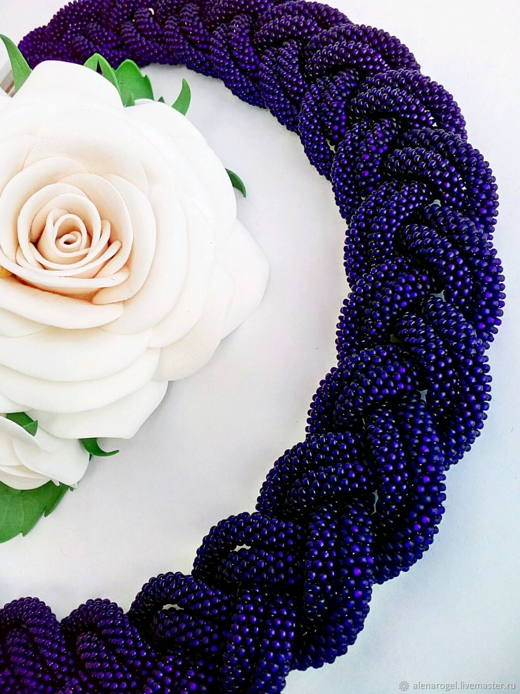 Necklace braid bead, beaded harness, Necklace, Chelyabinsk,  Фото №1