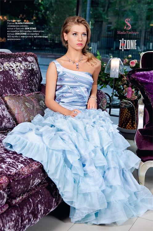 """Платья ручной работы. Ярмарка Мастеров - ручная работа. Купить Кристина Асмус в платье """"Северное сияние"""". Handmade. Вечернее платье"""