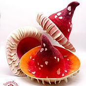 Аксессуары handmade. Livemaster - original item Caps: The muhomorchikom. Handmade.