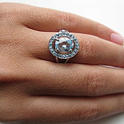 Украшения handmade. Livemaster - original item A ring with a blue Topaz Sky blue. 925 sterling silver st.. Handmade.