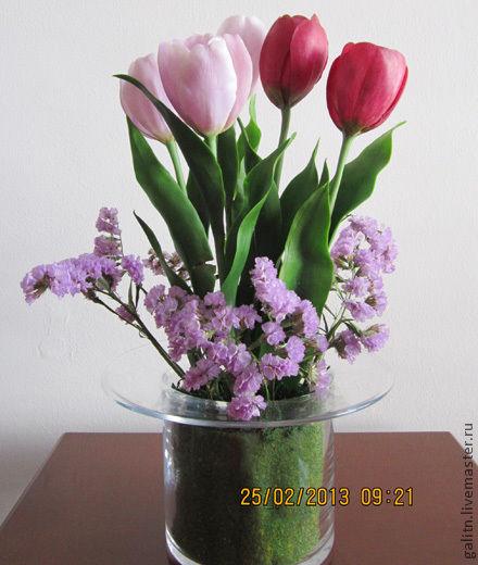 Интерьерные композиции ручной работы. Ярмарка Мастеров - ручная работа. Купить Так хочется тюльпанов в феврале..ведь в них живут малютки феи..... Handmade.