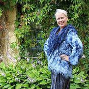"""Одежда ручной работы. Ярмарка Мастеров - ручная работа Жакет валяный """"Синева"""". Handmade."""