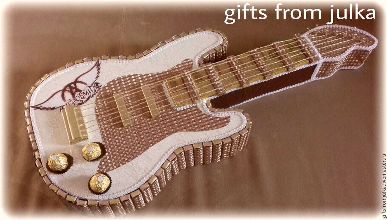 Гитара из конфет своими руками пошаговое фото для начинающих