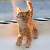 Куклы и игрушки handmade. Livemaster - original item Solar red kitten. The toy is made of wool. Handmade.