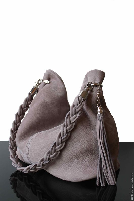 """Женские сумки ручной работы. Ярмарка Мастеров - ручная работа. Купить """"Granville серый"""" замшевая сумка, сумка из замши, серая сумка, сумка. Handmade."""