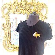 """Одежда ручной работы. Ярмарка Мастеров - ручная работа Дизайнерская футболка""""Золотая рыбка"""". Handmade."""
