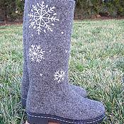 """Обувь ручной работы. Ярмарка Мастеров - ручная работа Валенки-сапожки """"Снежинка"""". Handmade."""