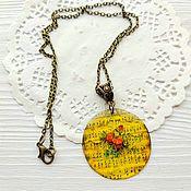 Украшения handmade. Livemaster - original item Pendant Sunny yellow Notes on a chain jewelry resin. Handmade.