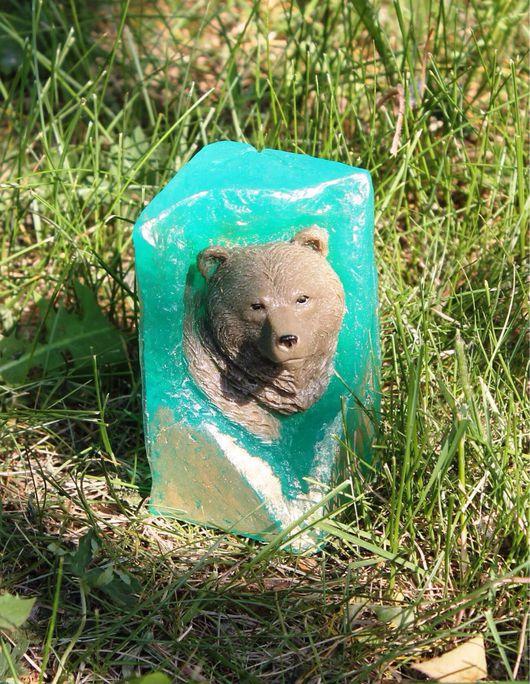 """Мыло ручной работы. Ярмарка Мастеров - ручная работа. Купить Сувенирное мыло """"Медведь в камне """". Handmade. подарок мужчине"""