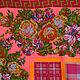 """Шали, палантины ручной работы. Шелковый платок из ткани ETRO  """"Sur les motifs de broderie"""". Diminn/Platkoffcom. Ярмарка Мастеров."""