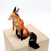 Куклы и игрушки ручной работы. Ярмарка Мастеров - ручная работа Фигурка Тотемный лис повтор. Handmade.