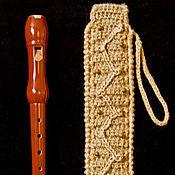 Музыкальные инструменты ручной работы. Ярмарка Мастеров - ручная работа чехол для блокфлейты. Handmade.