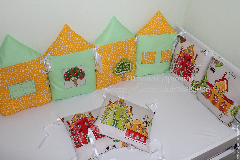 Бортики в кроватку малыша своими руками: идеи, выкройки 100