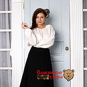 Одежда handmade. Livemaster - original item Skirt wool black. Handmade.