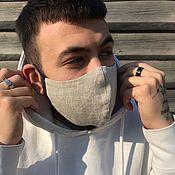 Аксессуары handmade. Livemaster - original item Organic flax face mask EASY BREATHING. Handmade.