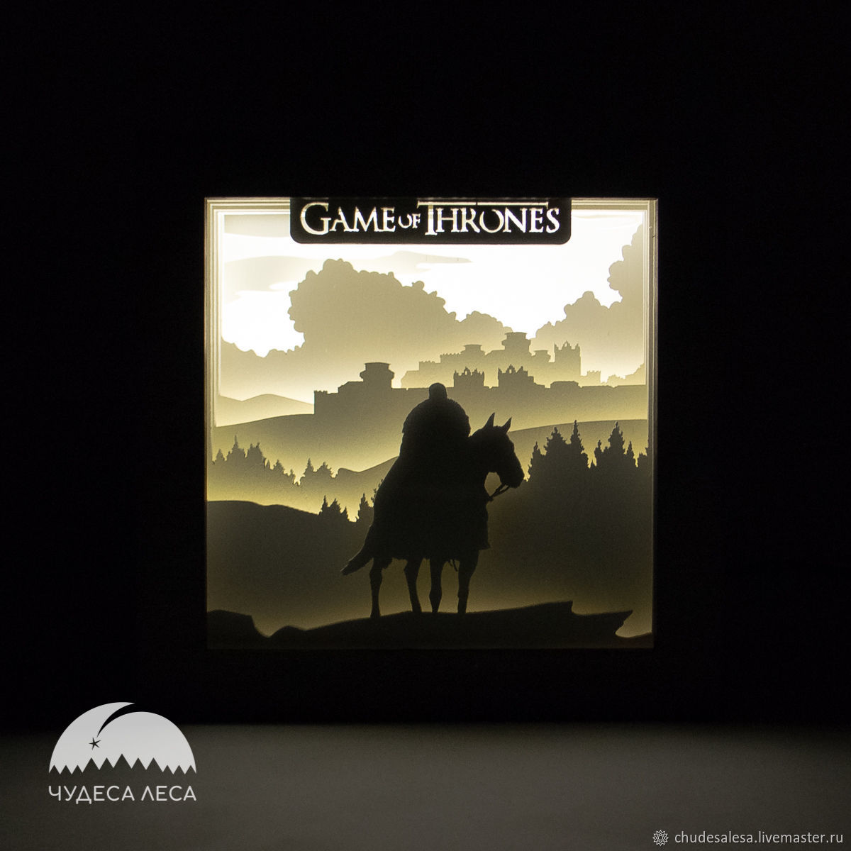 Game of thrones rider lamp', Ceiling and pendant lights, Lipetsk,  Фото №1