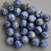 Материалы для творчества handmade. Livemaster - original item Sodalite 8 mm smooth sterling silver beads (natural stone). Handmade.