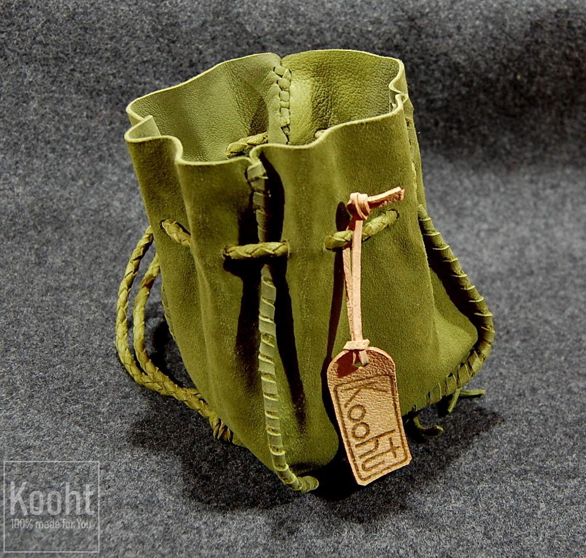 Мешочек из зеленой кожи, Кисет, Санкт-Петербург,  Фото №1