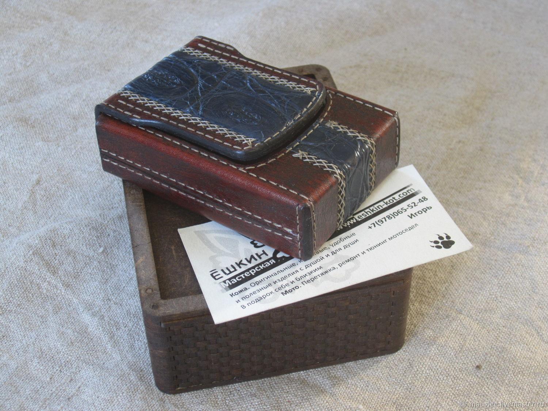 Cigarette case with crocodile insert. With gift box, Cigarette cases, Yalta,  Фото №1