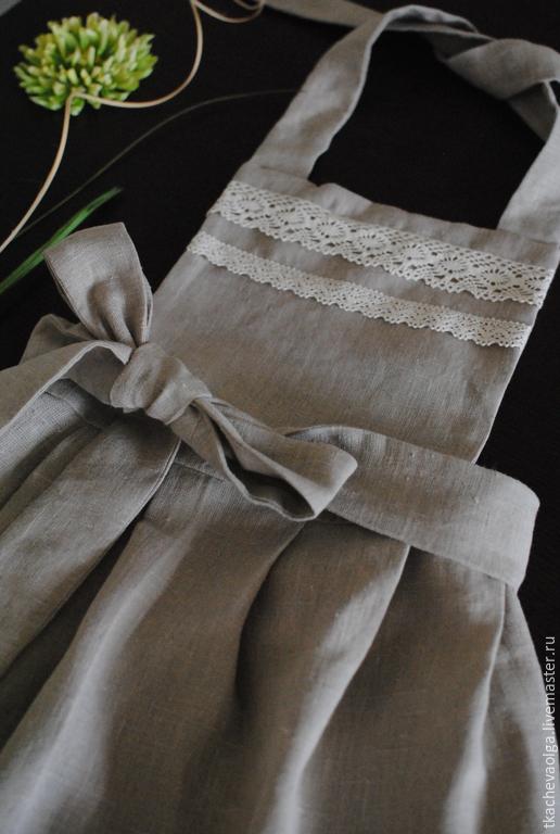 Кухня ручной работы. Ярмарка Мастеров - ручная работа. Купить Фартук Linen/Льняной. Handmade. Бежевый, кружево