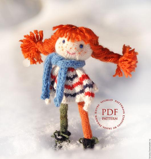 """Обучающие материалы ручной работы. Ярмарка Мастеров - ручная работа. Купить Мастер-класс """"Вязаная кукла"""". Пеппи Длинный чулок. Кукла вязаная. Handmade."""