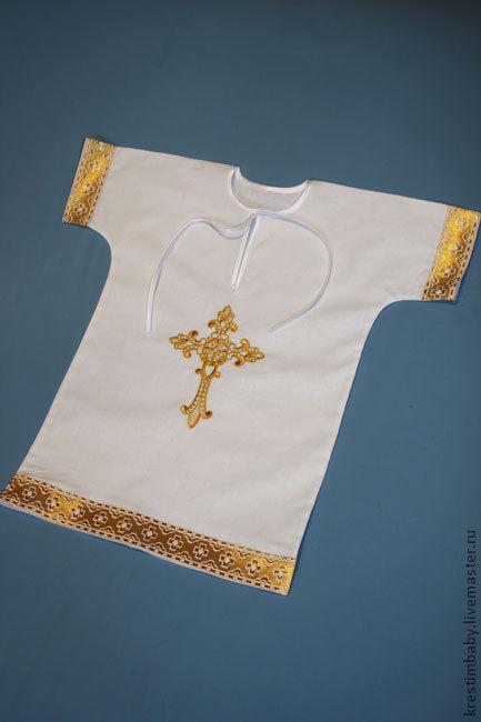 """Крестильные принадлежности ручной работы. Ярмарка Мастеров - ручная работа. Купить Крестильная рубашечка """"Крест"""". Handmade. Белый, крестильный комплект"""