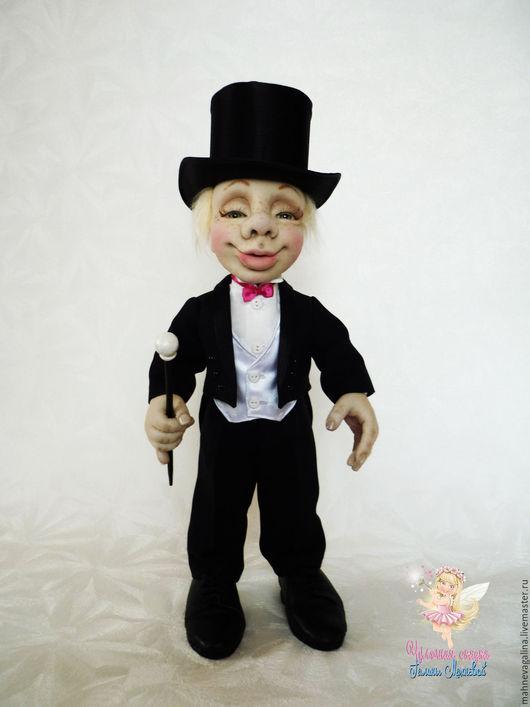 """Коллекционные куклы ручной работы. Ярмарка Мастеров - ручная работа. Купить Интерьерная кукла """"Граф Монте Кристо"""". Handmade. Черный"""