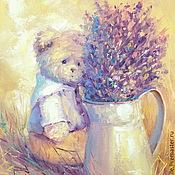 Картины и панно handmade. Livemaster - original item Oil painting on canvas. Lavender day.. Handmade.