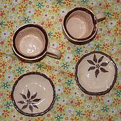 Посуда ручной работы. Ярмарка Мастеров - ручная работа Чашки с блюдцами для еспрессо. Handmade.