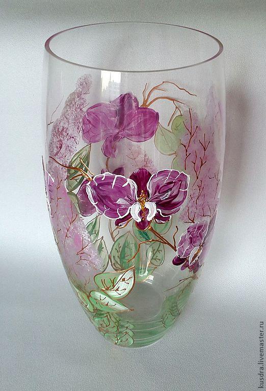 Ваза Орхидеи и Сирень