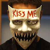 Одежда ручной работы. Ярмарка Мастеров - ручная работа Маска Судный День KIss Me The Purge mask (Halloween Scary Horror mask). Handmade.