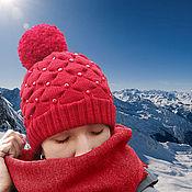 Аксессуары ручной работы. Ярмарка Мастеров - ручная работа Готовая работа :Зимняя шапка. Handmade.