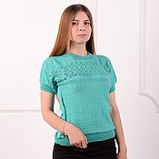 Одежда handmade. Livemaster - original item Women`s sweater - emerald. Handmade.