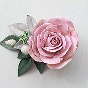 Украшения ручной работы. Ярмарка Мастеров - ручная работа Брошь-заколка с розой из фоамирана. Handmade.
