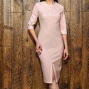 Одежда ручной работы. Ярмарка Мастеров - ручная работа Платье осеннее, теплое платье в офис, платье на каждый день. Handmade.